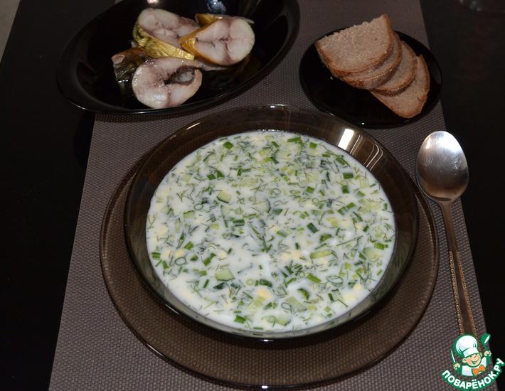 Рецепт: Холодный сырный суп