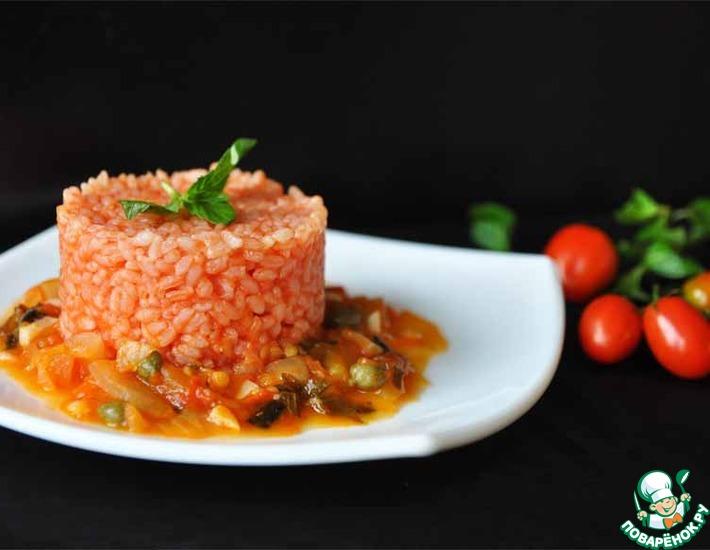 Рецепт: Томатный рис с соусом маринара и каперсами