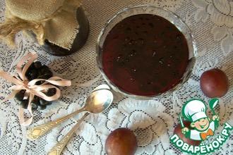 Рецепт: Варенье из черноплодной рябины (аронии) со сливами