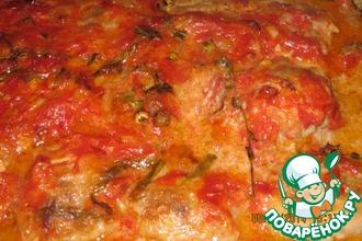 Рецепт: Фрикадельки в помидорном соусе