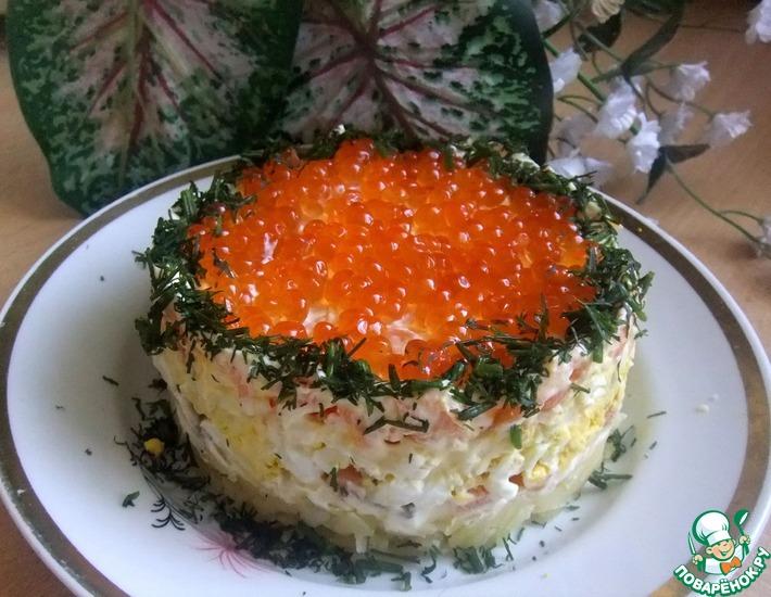 Рецепт: Салат Семга под лисьей шубой