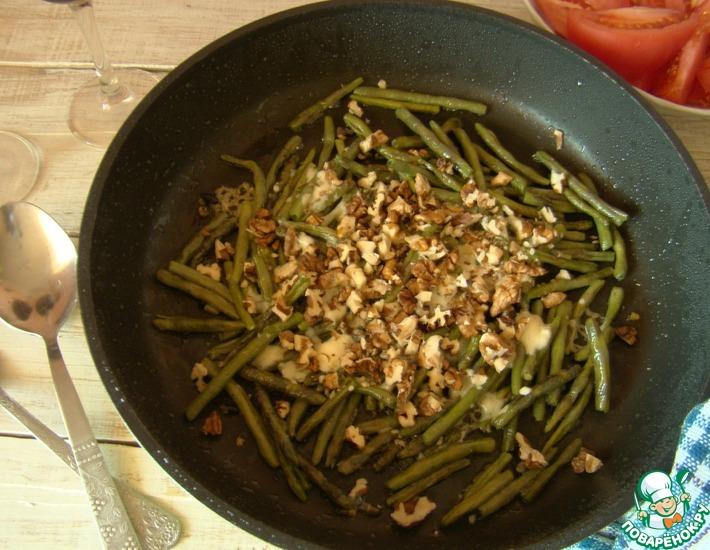 Рецепт: Зеленая фасоль с острым сыром