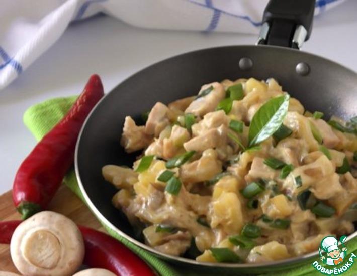 Рецепт: Картофельный Жульен