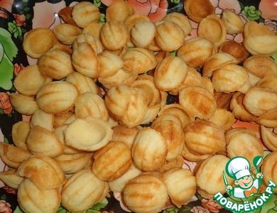 """Печенье """"Орешки"""" с яблочно-грушевым пюре"""