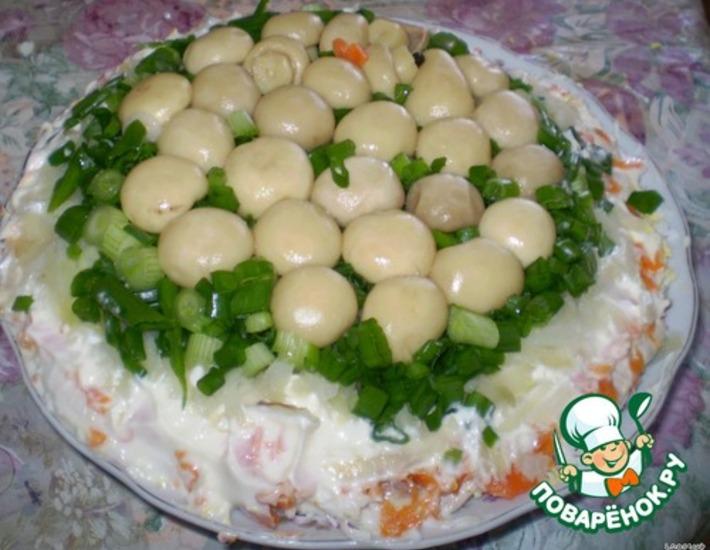 Рецепт: Салат Полянка