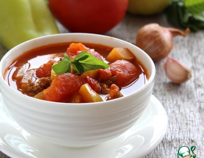 Рецепт: Восточный суп из мясного фарша