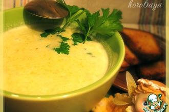 Рецепт: Сырный суп-пюре с брокколи
