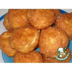 Сырные пончики с крабовыми палочками