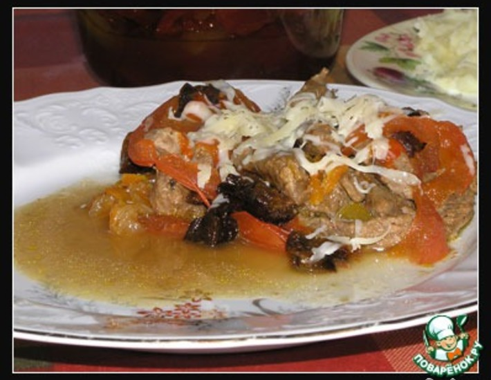 Рецепт: Сладкое мясо от Сары Абрамовны