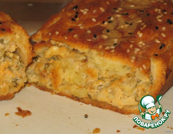 Рецепт: Пирог с баклажанами и сыром