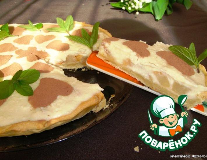 Рецепт: Грушевый тарт с творожно-манным кремом