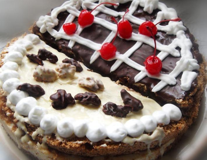 """Рецепт: Торт """"Ореховая лакомка или 2 в 1 """""""
