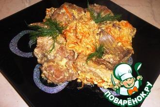 Рецепт: Кролик, тушенный в сметане