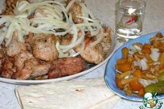 Рецепт: Шашлык из свинины на кефире