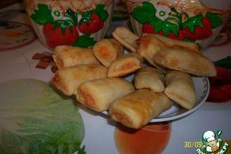 Рецепт: Картофельно-ветчинные рулетики