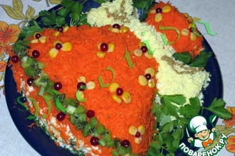 Рецепт: Салат Новогодний колокольчик