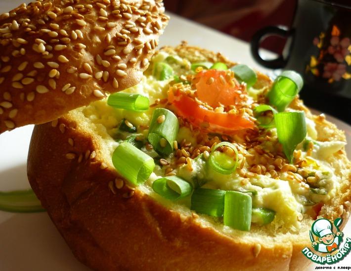 Рецепт: Закрытый бутерброд Вуаля