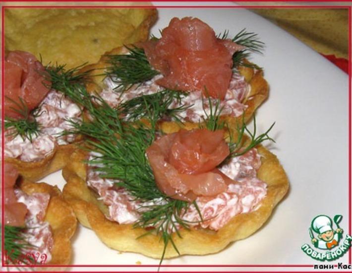 Рецепт: Тарталетки Морские на картофельном тесте