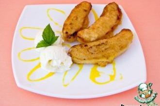 Рецепт: Десерт «Бананы в кляре»
