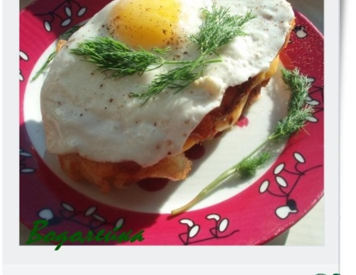 Рецепт: Завтрак Горячий бутерброд с яйцом