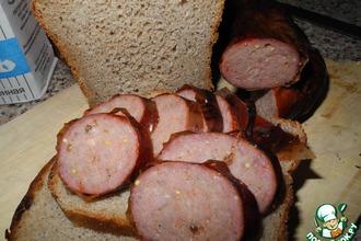 Рецепт: Колбаса сыро-копченая домашняя