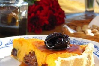 Рецепт: Тыквенный пирог с черносливом в коньяке