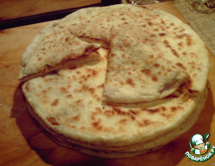 Рецепт: Лобиани, хлеб с фасолью
