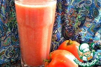 Рецепт: Фреш овощной Кабачок-томат-перец