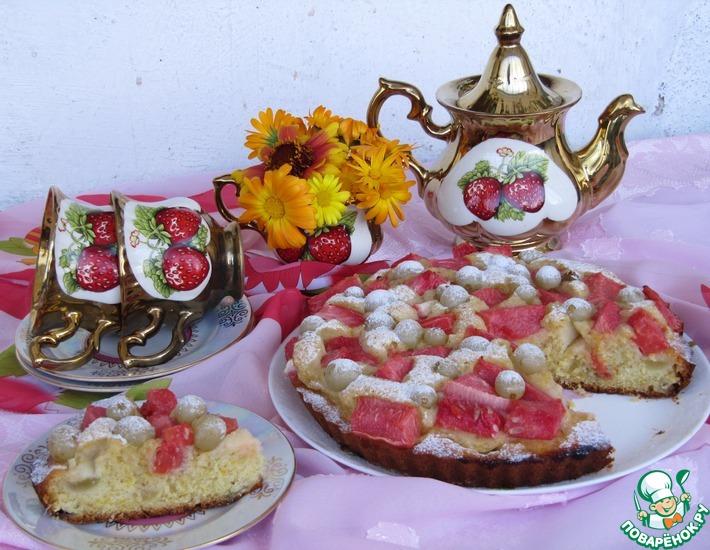 Рецепт: Пирог с виноградом и арбузом