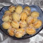 Печенье Орешки с яблочно-грушевым пюре