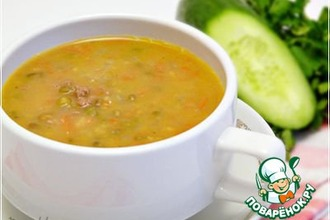 Рецепт: Суп из маша с восточными нотками