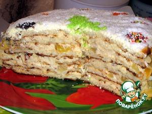 Торт слоеный «Именинно-Новогодний»