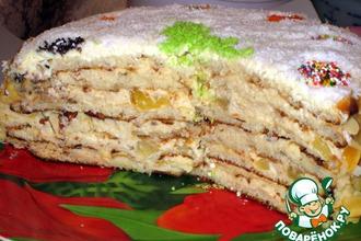 Рецепт: Торт слоеный «Именинно-Новогодний»