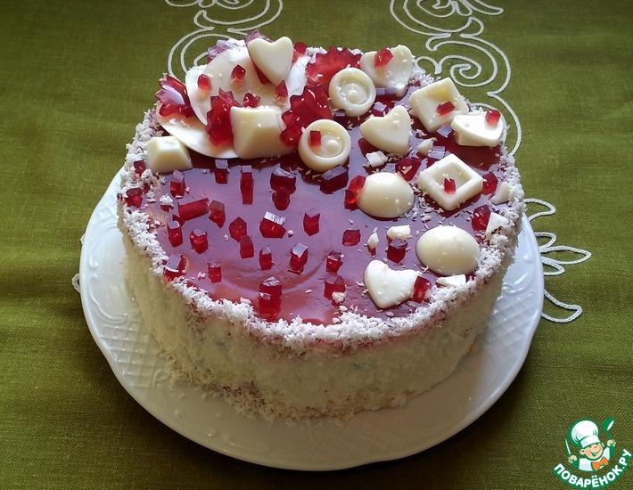 """Торт """"Творожно-ягодный шейк"""""""