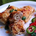 Блинчики с творожно-сырной начинкой и паприкой