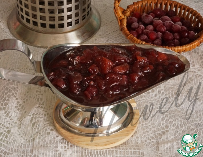 Рецепт: Чатни из яблок и клюквы