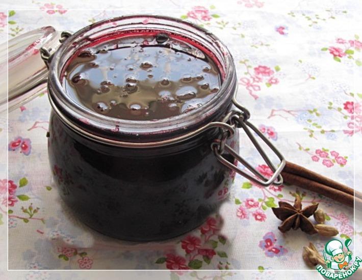 Рецепт: Пряное вишневое варенье