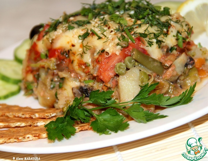 Рецепт: Овощная запеканка Радужная палитра