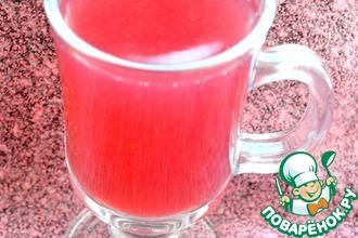 Рецепт: Ежевично-вишнево-клубничный кисель