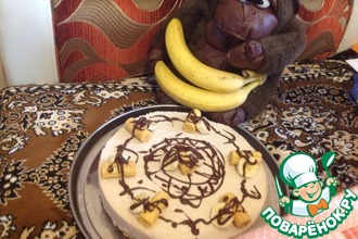 Рецепт: Творожный торт-суфле с бананом