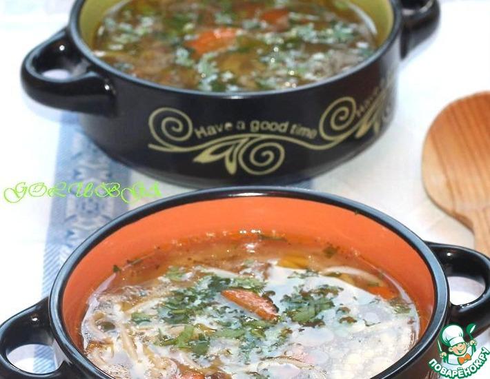 Рецепт: Грибной суп с вермишелью в мультиварке