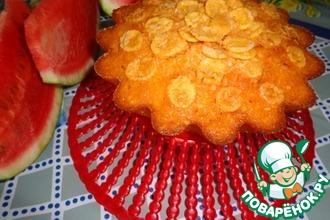 Рецепт: Арбузный кекс с кукурузными хлопьями