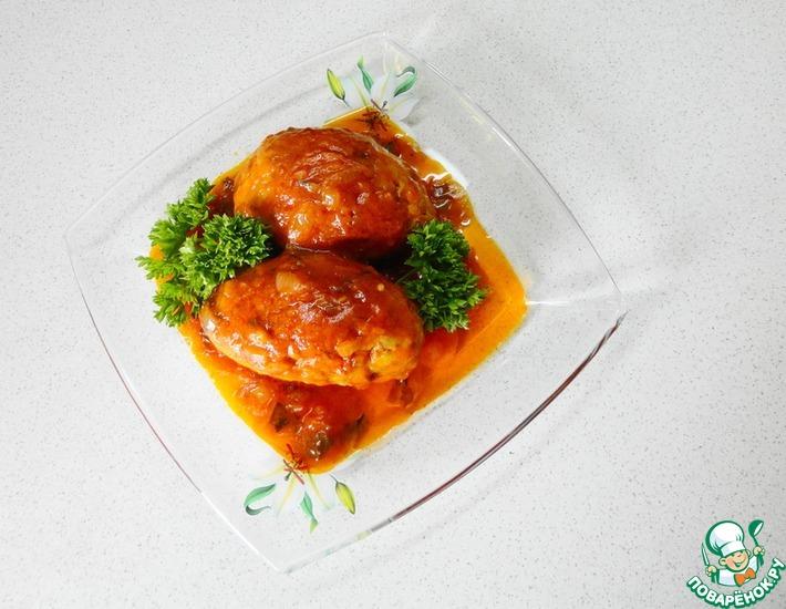 Рецепт: Гречаники в томатном соусе в мультиварке