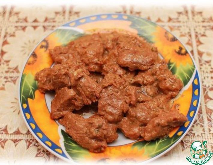 Рецепт: Бефстроганов из говядины