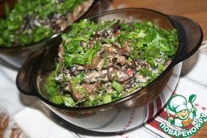 Рецепт Фунчёза с говядиной, древесными грибами и кокосовым молоком