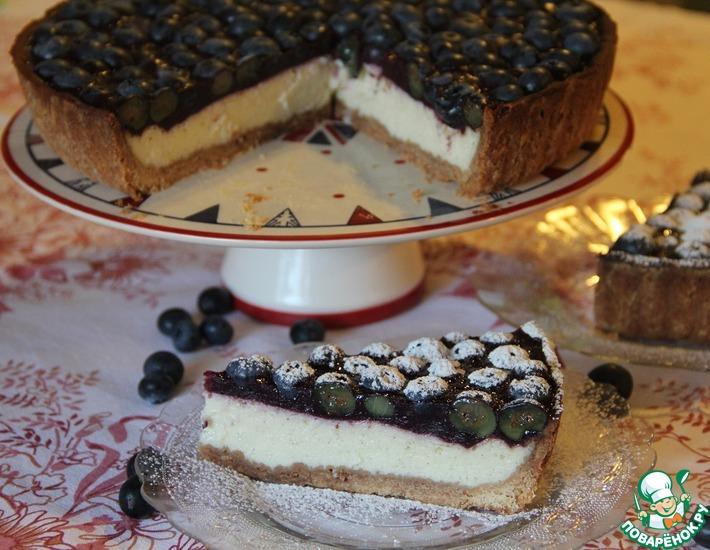 Рецепт: Тарт с печёным йогуртом Воспоминания лета
