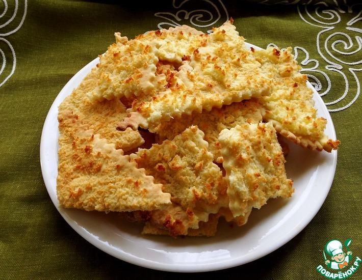Рецепт: Песочное печенье с кокосовой стружкой