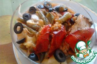Рецепт: Овощное рагу с рыбкойПальчики оближешь