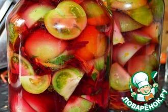 Рецепт: Зеленые помидоры 100 граммов