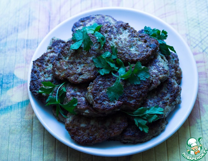 Рецепт: Мясные оладьи